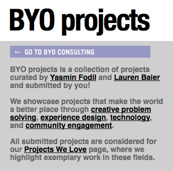 BYO Projects, 3 February 2012
