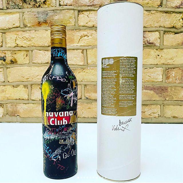 FL@33-designed custom Havana Club Especial bottle