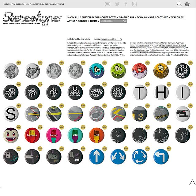 B.I.O. (By Invitation Only) Button Badge Series 20